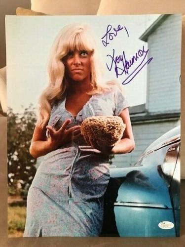 JOY HARMON HAND SIGNED OVERSIZED 11x14 COLOR PHOTO   SEXY   COOL HAND LUKE   JSA