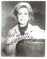 JOYCE BROTHERS - PSYCHOLOGIST/TV PERSONALITY/COLUMNIST - Wrote a DAILY NEWSPAPER Advice Column from 1960 to 2013  (Passed Away 2013) Signed 8x10 B/W Photo