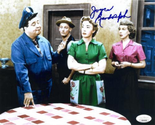 Joyce Randolph signed Honeymooners Trixie Norton Vintage Color 8x10 Photo- JSA Hologram #EE62126