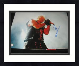 JSA Vince NEIL Signed MOTLEY CRUE 11x14 Photo