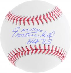 Juan Marichal Autographed Baseball with HOF 83 Inscription - Mounted Memories