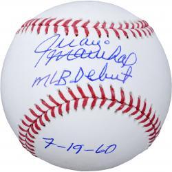 Juan Marichal San Francisco Giants Autographed Baseball with MLB Debut 7/19/60 Inscription