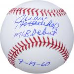 Juan Marichal San Francisco Giants Autographed Baseball with MLB Debut 7/19/60 Inscription - Mounted Memories