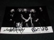JUDAS PRIEST Auto Signed 5x7 Photo Hill Owens Tipton Travis Downing RARE C