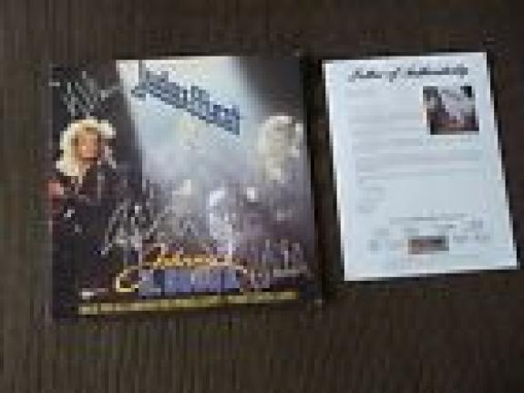 Judas Priest Johnny B Goode Signed Autographed LP Album x4 PSA Certified