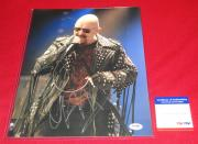 judas priest ROB HALFORD signed 11x14 PSA/DNA photo