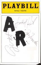 Judd Hirsch Joe Morton George Wendt Autographed ART Playbill AFTAL