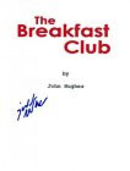 Judd Nelson Signed Autographed THE BREAKFAST CLUB Movie Script COA