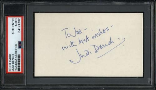 """Judi Dench Actress James Bond Films Signed 3"""" x 5"""" Index Card PSA/DNA"""