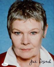 JUDI DENCH HAND SIGNED 8x10 COLOR PHOTO      Q FROM JAMES BOND MOVIES     JSA