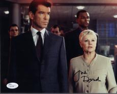 JUDI DENCH HAND SIGNED 8x10 COLOR PHOTO        WITH 007 PIERCE BROSNAN       JSA
