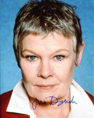JUDI DENCH HAND SIGNED 8x10 COLOR PHOTO+COA        Q FROM JAMES BOND MOVIES