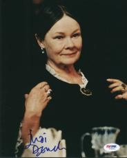 Judi Dench Signed 8x10 Photo Authentic Autograph Psa/dna #v68401