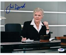 Judi Dench signed 8x10 photo James Bond M PSA/DNA autograph