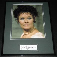 Judi Dench Signed Framed 11x14 Photo Display