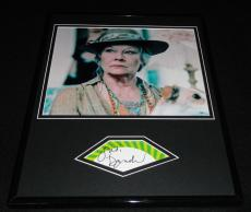 Judi Dench Signed Framed 11x14 Photo Display James Bond B