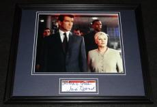 Judi Dench Signed Framed 11x14 Photo Display James Bond E