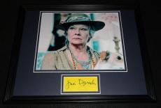 Judi Dench Signed Framed 11x14 Photo Display James Bond G