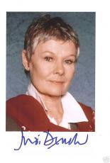Judi Dench-signed photo