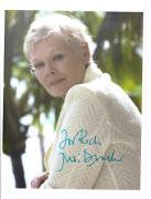 Judi Dench-signed photo-15 - JSA coa