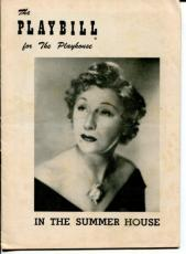Judith Anderson Mildred Dunnock Jean Stapleton In The Summer House 1954 Playbill