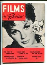 Judy Garland Lillian Gish Sophia Loren Dec 1962 Films In Review Magazine