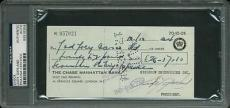 Judy Garland Signed 3x6 1964 London Check Autographed Psa/dna Slabbed