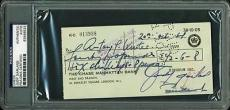 Judy Garland Signed 3x6.5 1964 Check Autographed Psa/dna Slabbed