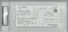 Judy Garland Signed Autographed Cancelled Check Slabbed PSA/DNA #83910508