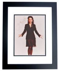 Julia Louis Dreyfus Autographed Seinfeld Actress 8x10 Photo BLACK CUSTOM FRAME - Julia Louis-Dreyfus