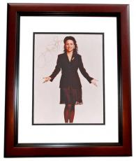 Julia Louis Dreyfus Autographed Seinfeld Actress 8x10 Photo MAHOGANY CUSTOM FRAME - Julia Louis-Dreyfus