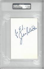 Julia Roberts Signed Autographed 4x6 Index Card Slabbed PSA/DNA #83690759