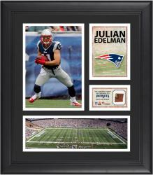 Julian Edelman New England Patriots Framed 15'' x 17'' Collage with Game-Used Football