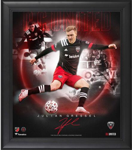 """Julian Gressel D.C. United Framed 15"""" x 17"""" Stars of the Game Collage - Facsimile Signature"""