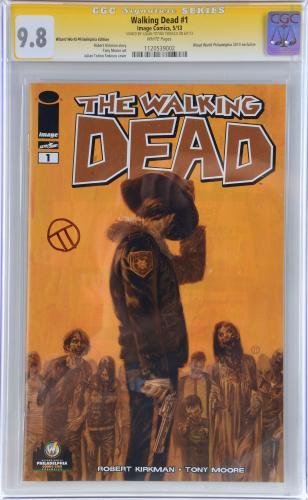 Julian Totino Tedesco The Walking Dead Autographed Varaint CGC Series Trading Card - PSA