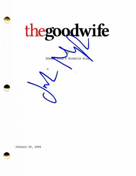 Julianna Margulies Signed Autograph - The Good Wife Script - Jeffrey Dean Morgan