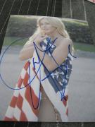 JULIANNE HOUGH SIGNED AUTOGRAPH 8x10 PHOTO AMERICAN FLAG IN PERSON G