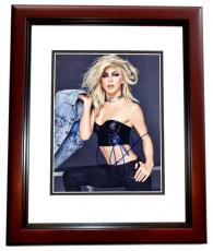 Julianne Hough Signed - Autographed Sexy Singer - Actress - Dancer 8x10 inch Photo MAHOGANY CUSTOM FRAME - Guaranteed to pass PSA or JSA