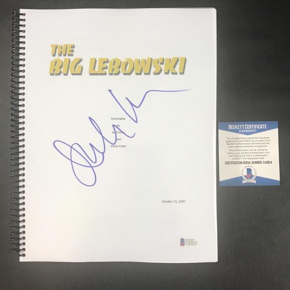 Julianne Moore Signed Autographed The Big Lebowski Full Movie Script Beckett Bas