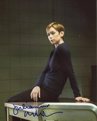 JULIANNE NICHOLSON signed *LAW & ORDER* 8x10 photo Megan Wheeler PROOF W/COA #3