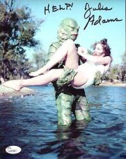 JULIE ADAMS HAND SIGNED 8x10 COLOR PHOTO     CREATURE FROM BLACK LAGOON      JSA