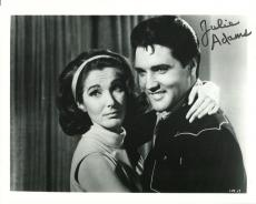 JULIE ADAMS HAND SIGNED 8x10 PHOTO+COA      AMAZING POSE WITH ELVIS PRESLEY