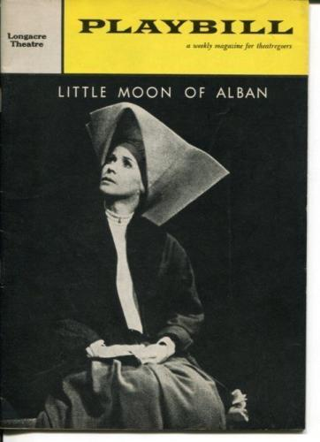 Julie Harris Robert Redford Little Moon Of Alban 1960 Opening Night Playbill