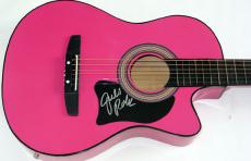 Julie Roberts Autographed Signed Pink Guitar Dual Cert JSA  AFTA AFTAL