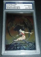 Julie Strain Signed 2000 Vampirella Chrome Comic Promo Card PSA/DNA Autograph #3
