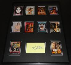 Julie Strain Signed Framed 16x20 Comic Images 1996 Card Set Display B