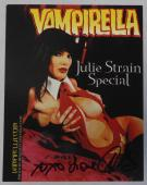 Julie Strain Special Signed Vampirella Comic Book Photo Promo Card Autograph 4x6