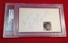 Juliet Prowse  Signed Index Card Slabbed PSA/DNA #83107958