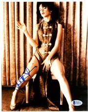 "Juliette Lewis Autographed 8""x 10"" Sitting in Chair Photograph - Beckett COA"