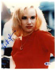 "Juliette Lewis Autographed 8""x 10"" That Night Red Shirt Photograph - BAS COA"